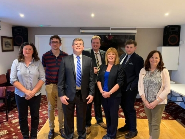 New Executive Pauline Culley, Jamie Bartch, Jack Sowerby, Lisa Preston, Deborah Laing, David Willis and Parliamentary candidate for Darlington Peter Gibson.